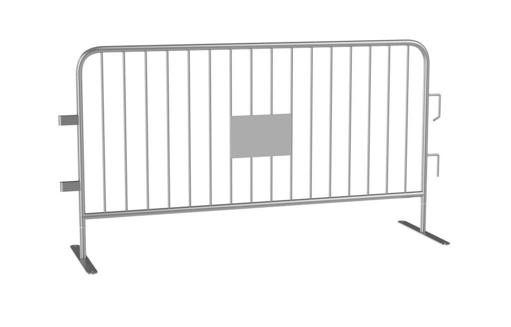 6 Foot Galvanized Steel Barrier Interlocking Barricade with Flat Feet