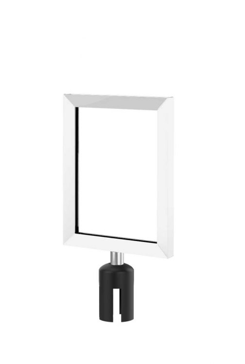 Value Polished Chrome Sign Frame with Adapter 8.5x11