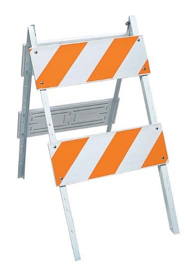 Type II Traffic Safety Barricade reflective Engineering Grade Bands