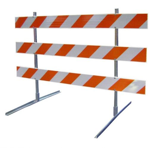 Type III Traffic Safety Barricade reflective Engineering Grade Bands