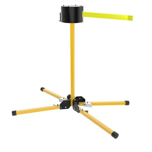 Premium Retractable Stand Mount 65 Foot Fluorescent Yellow Belt