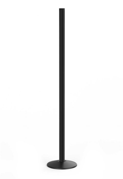 Premium Six Foot Tall Sign Black Aluminum Post