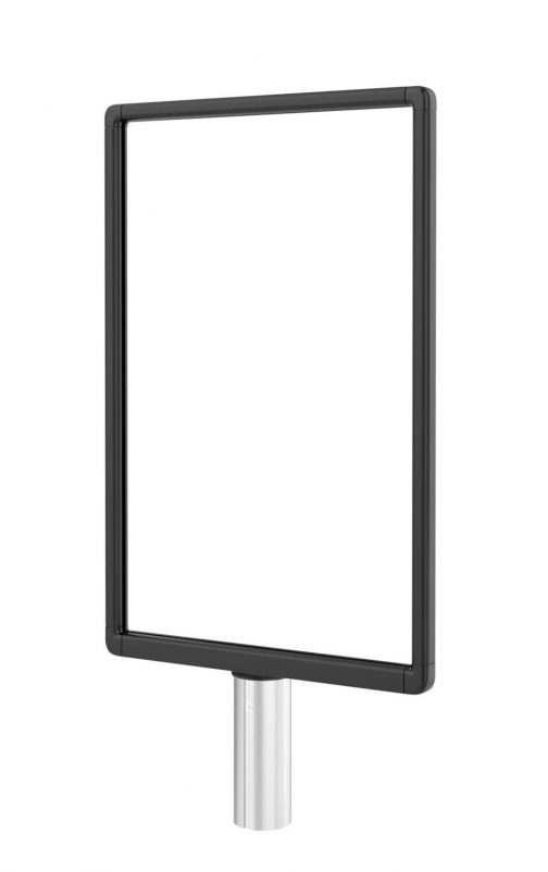 Premium Slide In Sign Frame Smooth Black 14x22