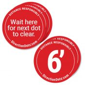 Direction Dots Floor Decal 5 Pack