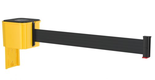 Value Yellow Retractable Black Belt Wall Mount