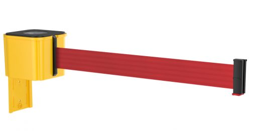 Value Yellow Retractable Red Belt Wall Mount